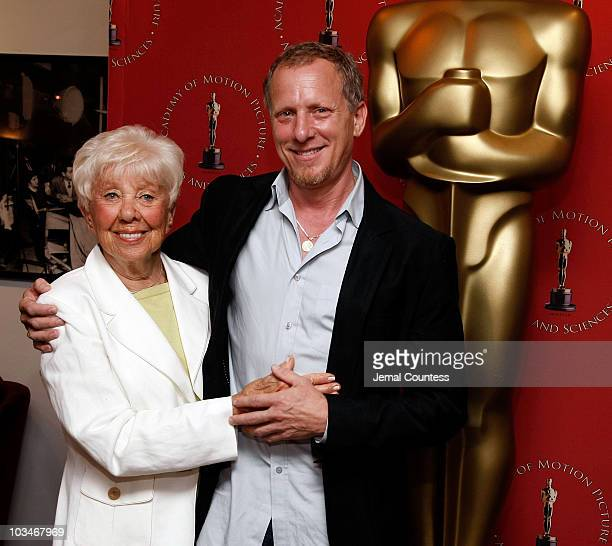 Producer/Director Rob Epstein with his mother Lillian Sokoloff attend the Monday Nights with Oscar Presentation of The Times of Harvey Milk on June...