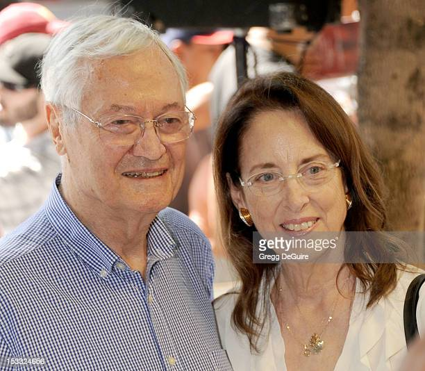 Producer/director Roger Corman and wife Julie Corman pose as producer Gale Anne Hurd is honored with a star on the Hollywood Walk Of Fame on October...
