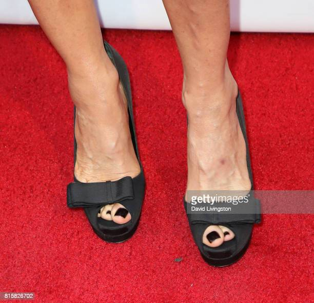 Producer/director Trudie Styler shoe detail attends the 2017 Outfest Los Angeles LGBT Film Festival closing night gala screening of Freak Show at The...