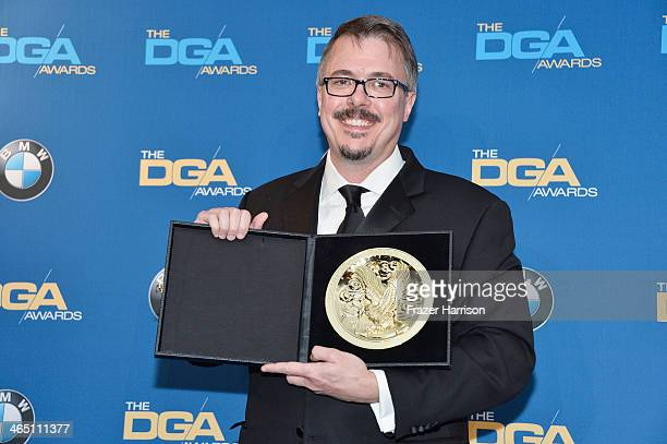 Producerdirector Vince Gilligan winner of the Outstanding Directorial Achievement in Dramatic Series for the Breaking Bad episode Felina poses in the...