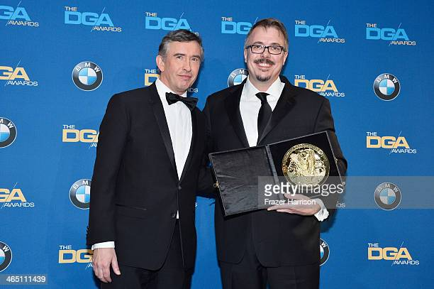 Producerdirector Vince Gilligan winner of the Outstanding Directorial Achievement in Dramatic Series for the Breaking Bad episode Felina poses with...