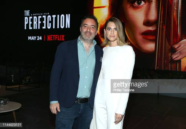 "Producer/director/co-writer Richard Shepard and actress Allison Williams attend the Netflix LA special screening of ""THE PERFECTION"" at Netflix Home..."