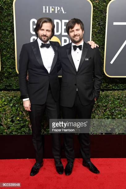 Producer/directors Matt Duffer and Ross Duffer attend The 75th Annual Golden Globe Awards at The Beverly Hilton Hotel on January 7 2018 in Beverly...