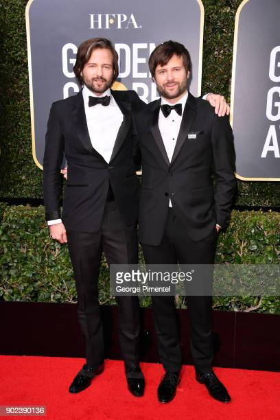 Producer/directors Matt Duffer and Ross Duffer attends The 75th Annual Golden Globe Awards at The Beverly Hilton Hotel on January 7 2018 in Beverly...