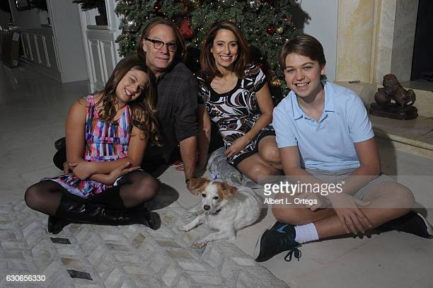 Producer/director/Special Effects Artis Greg Nicotero of 'The Walking Dead' with his daughter Alyssa wife Shari dog Aggie and son Devn in front of...