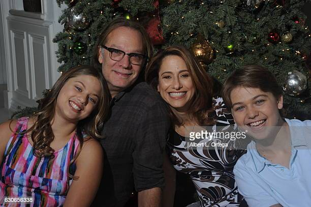 Producer/director/Special Effects Artis Greg Nicotero of 'The Walking Dead' with his daughter Alyssa wife Shari and son Devn in front of the...