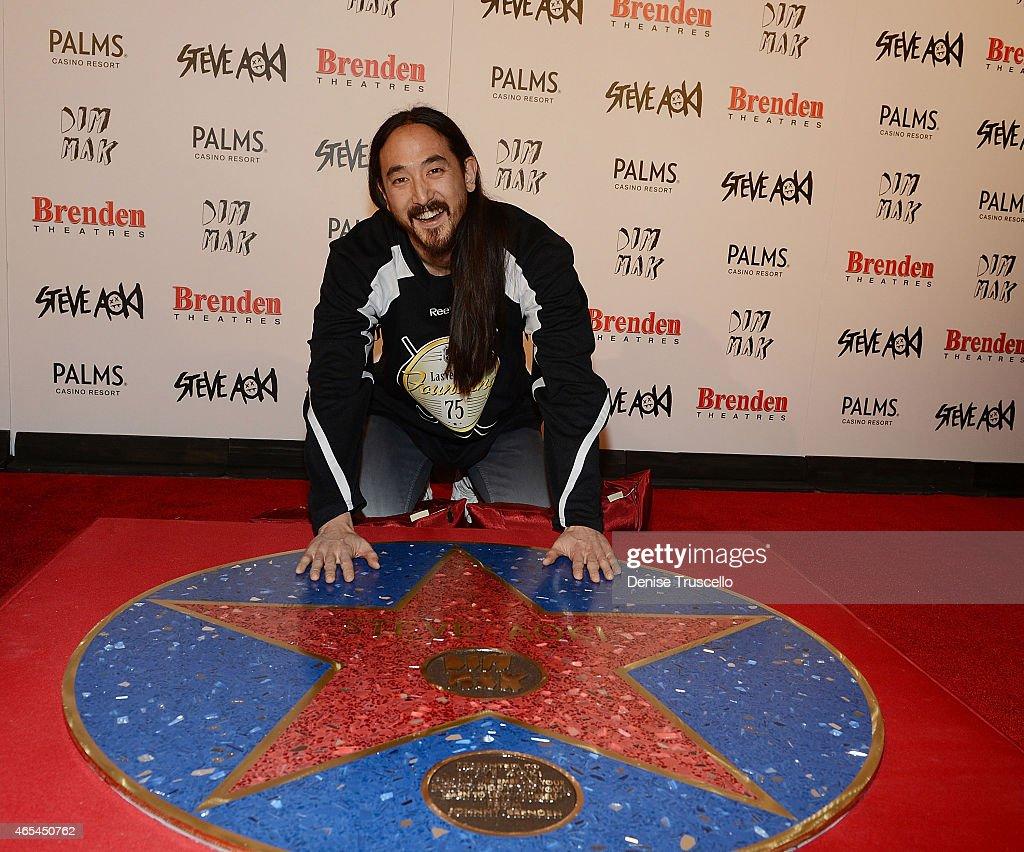 Producer/DJ Steve Aoki during his Brenden 'Celebrity' Star presentation at Palms Casino Resort on March 6, 2015 in Las Vegas, Nevada.