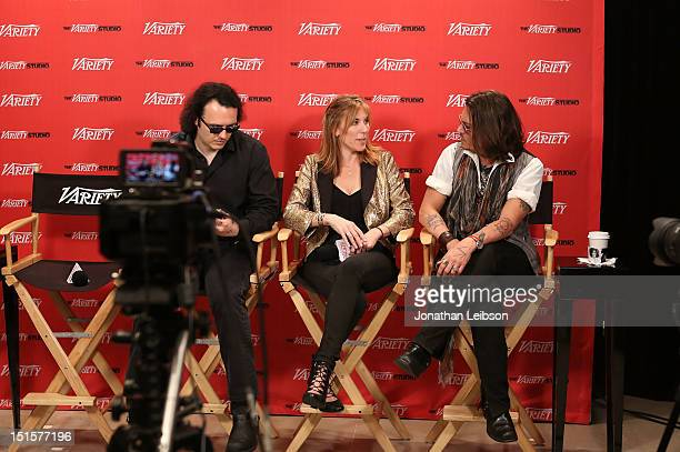 Producer/Documentary subject Damien Echols Director/Producer Amy Berg and Actor Johnny Deppat Variety Studio presented by Moroccanoil on Day 1 at...