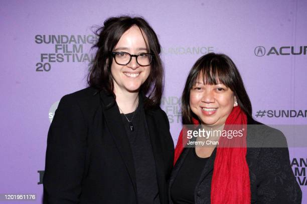 """Producer/Editor Leah Marino and Writer/Director Ramona S. Diaz attends the """"A Thousand Cuts"""" Premiere during the 2020 Sundance Film Festival at..."""