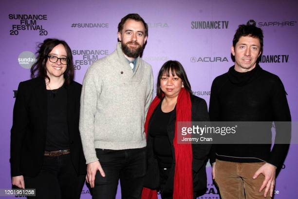 """Producer/Editor Leah Marino, Jeffrey Johnson, Writer/Director Ramona S. Diaz and Sam Lipman attend the """"A Thousand Cuts"""" Premiere during the 2020..."""