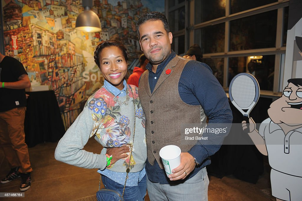 Producer/Host of What's New In New York Maria Taylor (L) and Ramon Cortes attend the American Dad Sneaker Launch at the Adidas Originals Store on October 18, 2014 in New York City. 25167_001_0184.JPG