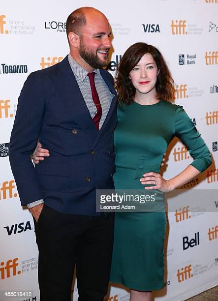 ProducerJordan Horowitz and Screenwriter Julia Hart attend The Keeping Room premiere during the 2014 Toronto International Film Festival at The Elgin...