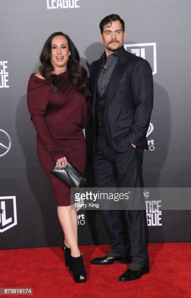 Producer/manager Dany Garcia and actor Henry Cavill attend the premiere of Warner Bros Pictures' 'Justice League' at Dolby Theatre on November 13...