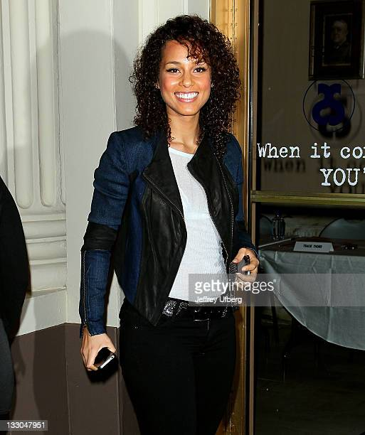 Alicia keys jacket pictures and photos getty images producermusician alicia keys attends the stick fly meet and greet at cort m4hsunfo