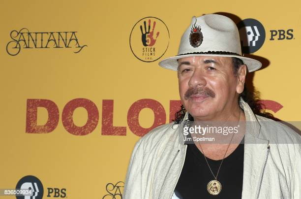 Producer/musician Carlos Santana attends the 'Dolores' New York premiere at The Metrograph on August 21 2017 in New York City