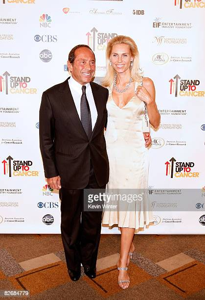 Producer/musician Paul Anka arrives at Stand Up For Cancer at the Kodak Theatre on September 5 2008 in Hollywood California