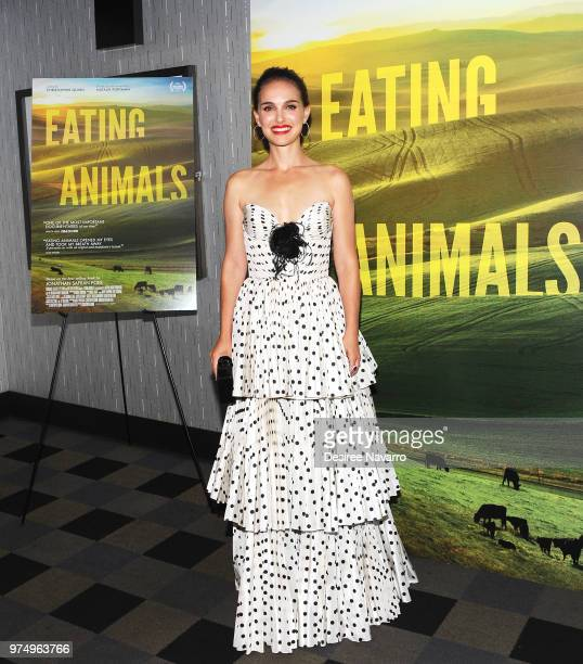 Producer/narrator Natalie Portman attends 'Eating Animals' New York Screening at IFC Center on June 14 2018 in New York City