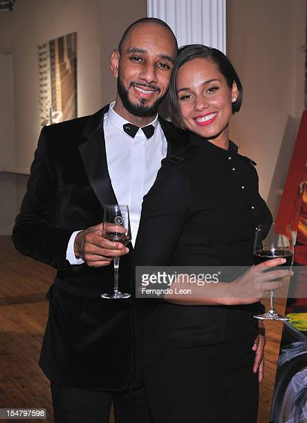 Producer/philanthropist Swizz Beatz and his wife recording artist Alicia Keys attend Haute Living Honors its partner Swizz Beatz with a Louis XIII...