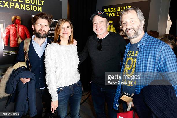 Producers Adam Scott and Naomi Scott actor Bradley Whitford and producer/director Judd Apatow attend the Eddie Bauer Adventure House during the 2016...