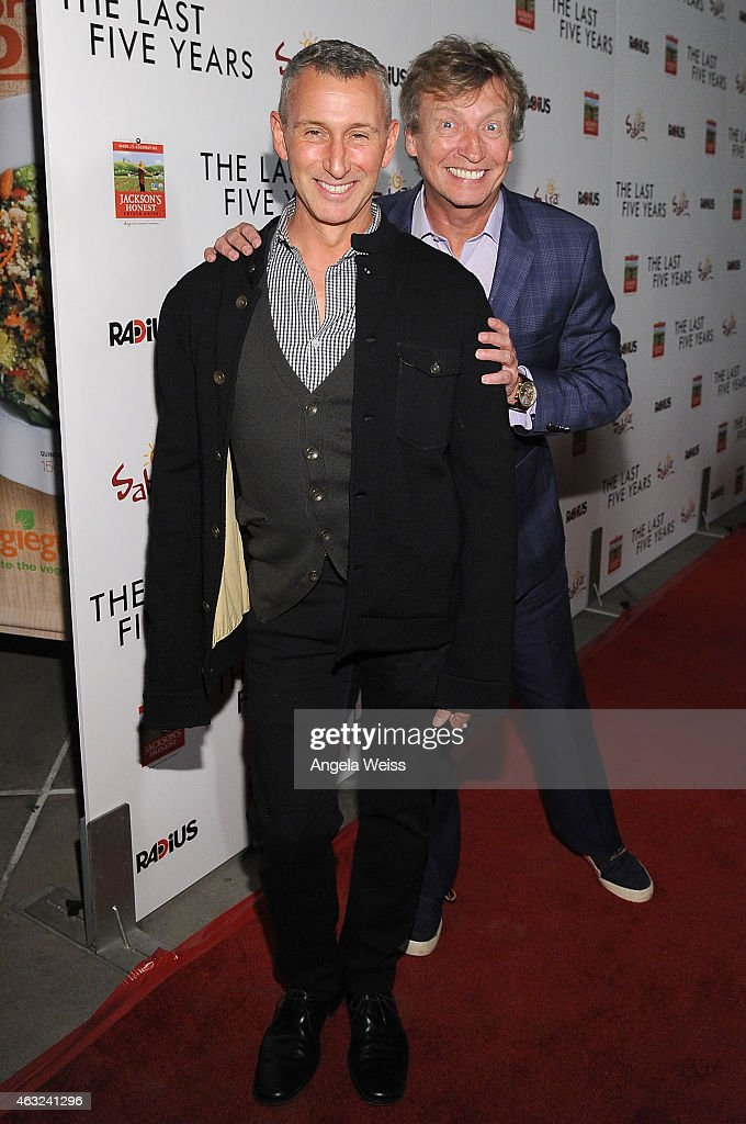 Producers Adam Shankman and Nigel Lythgoe attend the premiere of RADiUS' 'The Last Five Years' at ArcLight Hollywood on February 11, 2015 in Hollywood, California.