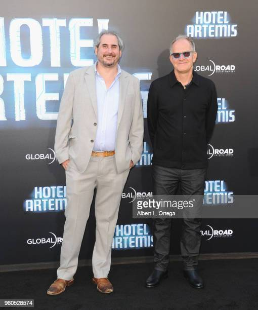 Producers Adam Siegel and Stephen Cornwell arrive for the Global Road Entertainment's 'Hotel Artemis' Premiere held at Regency Village Theatre on May...