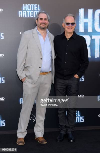 Producers Adam Siegel and Stephen Cornwell attend the Los Angeles premiere of 'Hotel Artemis' on May 19 2018 in Westwood Village California