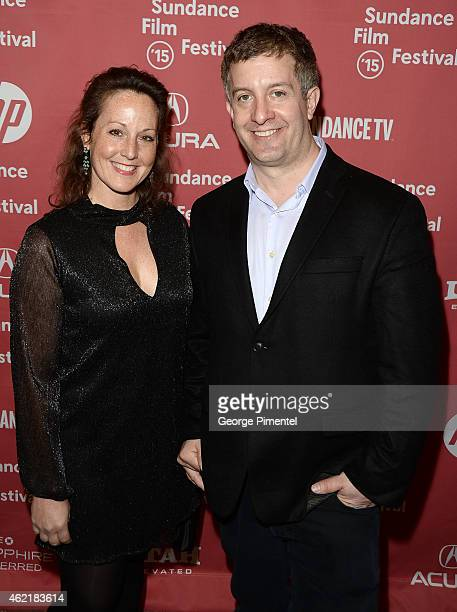 Producers Aimee Schoof and Isen Robbins attend the Experimenter Premiere during the 2015 Sundance Film Festival at the Eccles Center Theatre on...