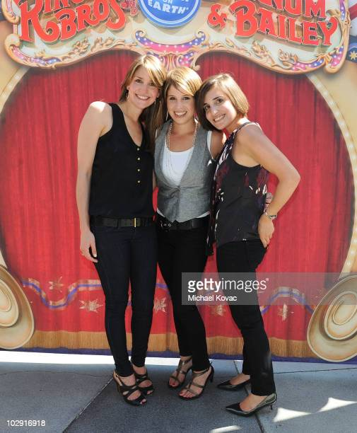 Producers Alana Feld, Nicole Feld, and Juliette Feld attend the star dedication ceremony for iconic circus founder P.T. Barnum at Staples Center on...
