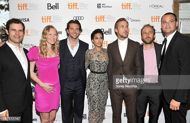 producers Alex Orlovsky and Lynette Howel actors Bradley Cooper Eva Mendes Ryan Gosling Writer/Director Derek Cianfrance and producer Jamie Patricof...