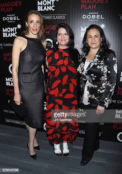 Producers Alexandra Kerry Lucy Barzun Donnelly and guest attend the screening of Sony Pictures Classics' Maggie's Plan hosted by Montblanc and The...