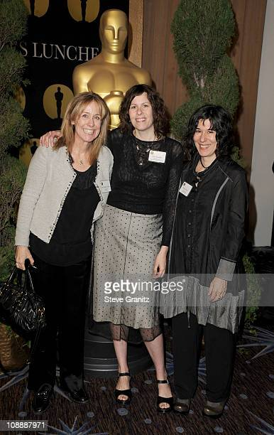Producers Alix MadiganYorkin Anne Rosellini and writer/Director Debra Granik arrive at the 83rd Academy Awards Nominations Luncheon held at the...