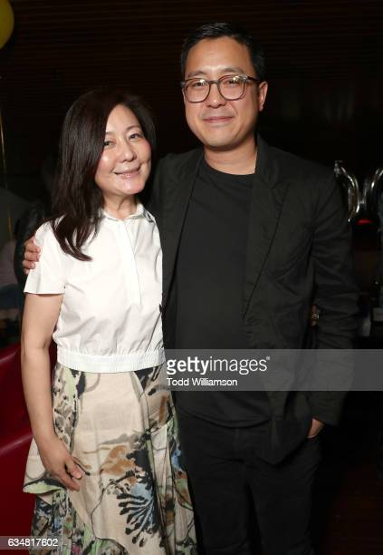 Producers Amber Wang and Rob Feng attend a special screening of 'Rock Dog' at Westside Pavilion on February 11 2017 in Los Angeles California