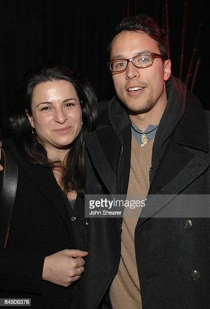 Producers Amy Kaufman and Cary Fukunaga attend Elridge Club Late Nights at Hollywood Life House on January 20 2009 in Park City Utah