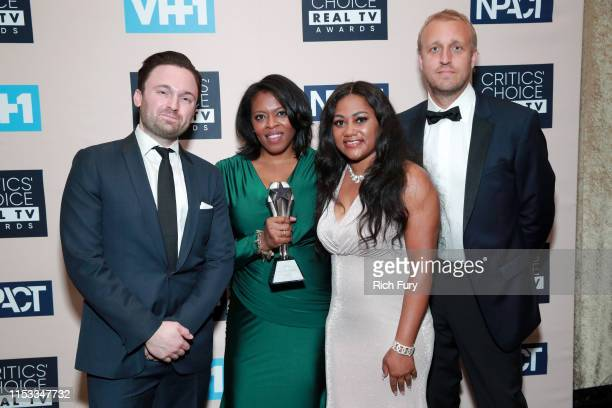 Producers and cast members of Surviving R Kelly winners of Best Limited Documentary Series pose in the press room during the Critics' Choice Real TV...
