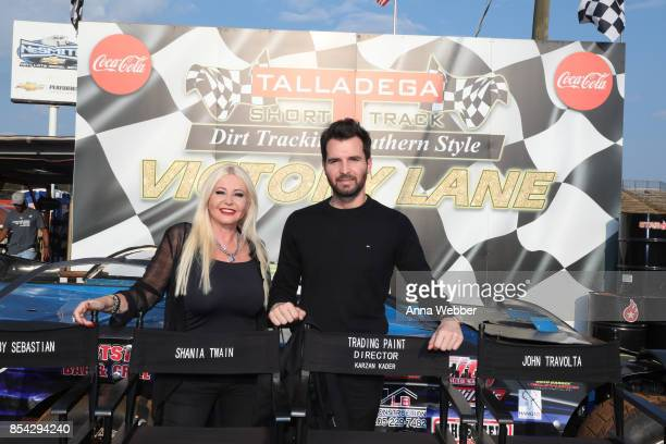 Producers and founders of AMBI Media Group Monika Bacardi and Andrea Iervolino On The Set Of The Movie Trading Paint on September 14 2017 in...