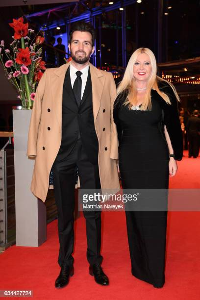 Producers Andrea Iervolino and Monika Bacardi attend the 'Django' premiere during the 67th Berlinale International Film Festival Berlin at Berlinale...