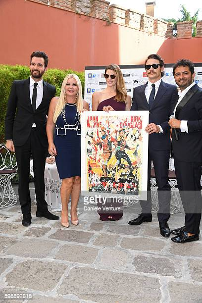 Producers Andrea Iervolino Lady Monika Bacardi Ashley Greene James Franco and Gianvito Casadonte attend Mimmo Rotella Award Ceremony during the 73rd...