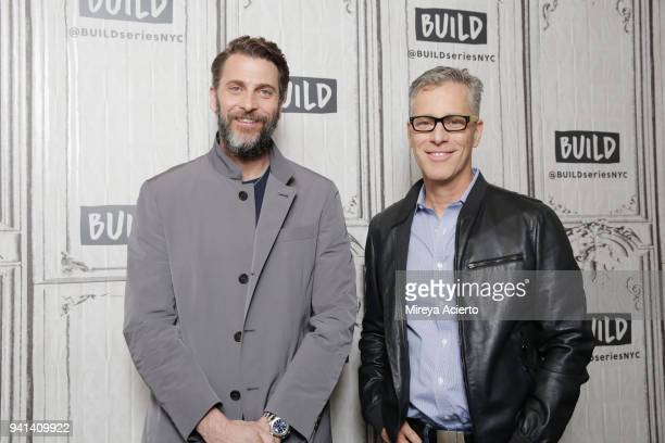 Producers Andrew Form and Brad Fuller visit BUILD to discuss the movie 'A Quiet Place' at Build Studio on April 3 2018 in New York City