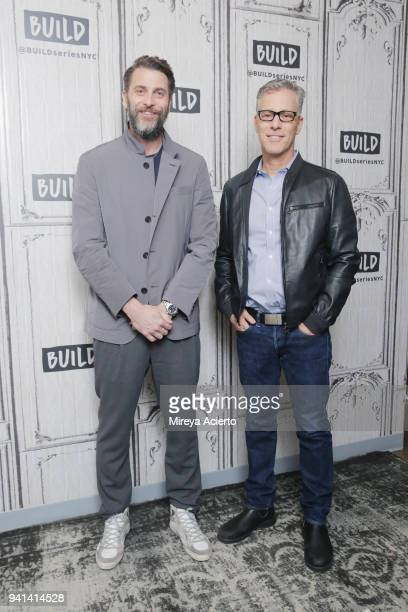 Producers Andrew Form Brad Fuller visit BUILD to discuss the movie 'A Quiet Place' at Build Studio on April 3 2018 in New York City