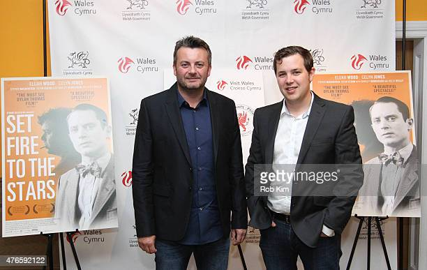 Producers Andy Evans and AJ Riach attend Set Fire To The Stars New York Premiere at Crosby Street Hotel on June 10 2015 in New York City