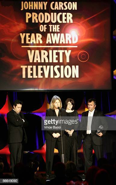 Producers Andy Lassner Mary Connelly Karen Kilgariff and Ed Glavin accept The Producers Guild of America Producer of the Year Award in Variety...