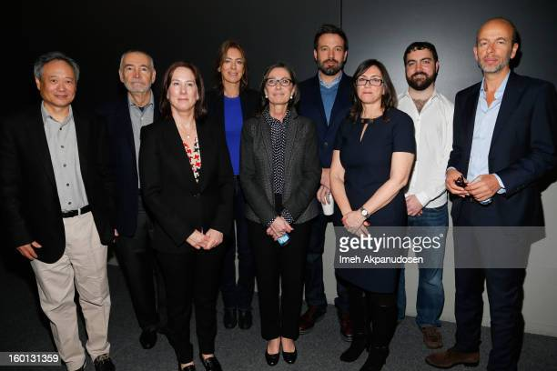 Producers Ang Lee Michael G Wilson Kathleen Kennedy Kathryn Bigelow Donna Gigliotti Ben Affleck Stacey Sher Josh Penn and Eric Fellner attend the...