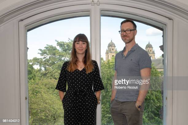 Producers Anna Griffin and Alastair Clark attend a photocall for the World Premiere of 'Calibre' during the 72nd Edinburgh International Film...