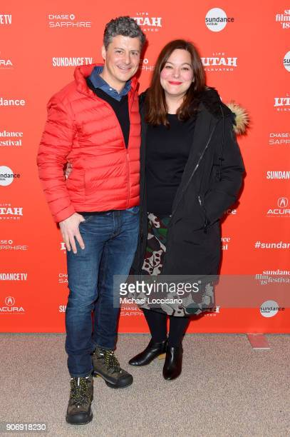 Producers Anthony Bregman and Stefanie Azpiazu attend the 'Private Life' Premiere during the 2018 Sundance Film Festival at Eccles Center Theatre on...