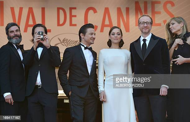 US producers Anthony Katagas and Greg Shapiro actor Jeremy Renner French actress Marion Cotillard and US director James Gray and his wife Alexandra...