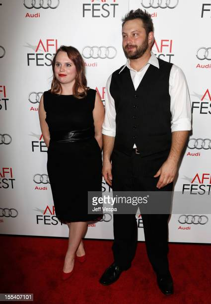 Producers Ashley Young and Kevin Clancy arrive at the Holy Motors special screening during the 2012 AFI Fest at Grauman's Chinese Theatre on November...