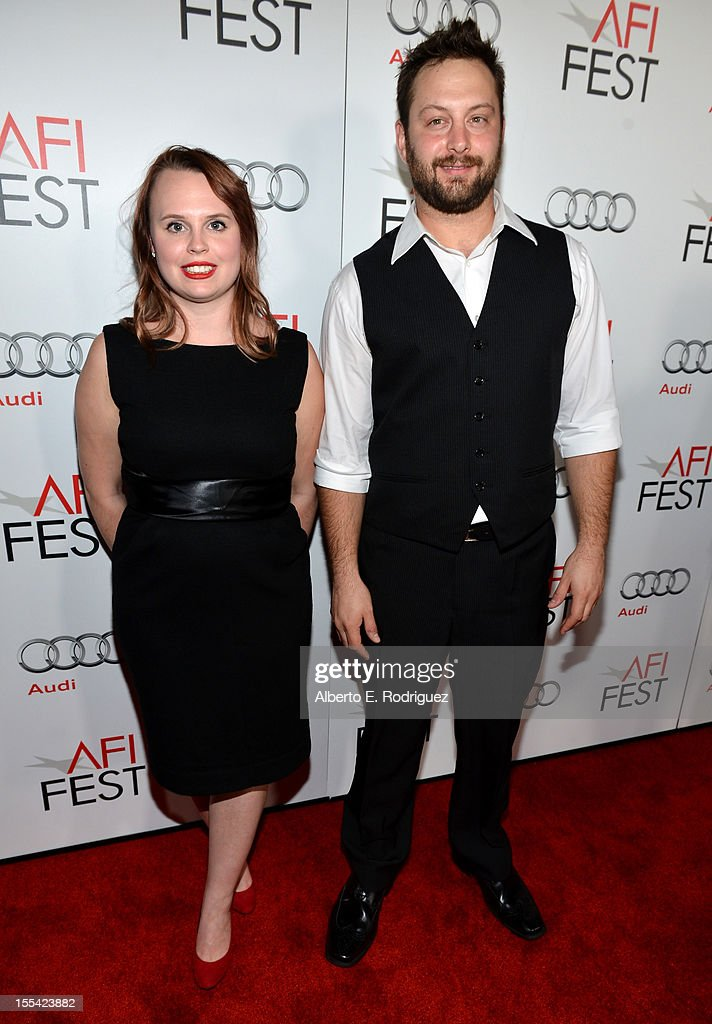 Producers Ashley Young (L) and Kevin Clancy arrive at the 'Holy Motors' special screening during the 2012 AFI Fest at Grauman's Chinese Theatre on November 3, 2012 in Hollywood, California.