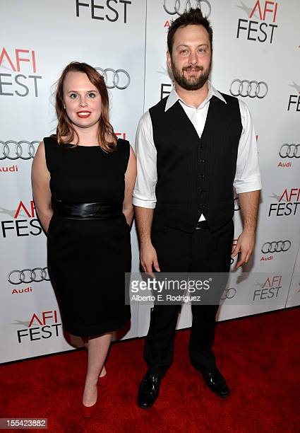 """Producers Ashley Young and Kevin Clancy arrive at the """"Holy Motors"""" special screening during the 2012 AFI Fest at Grauman's Chinese Theatre on..."""