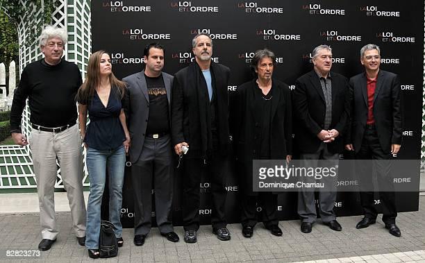 Producers Avi Lerner Lati Grobman Randall Emmett Director Jon Avnet Actors Al Pacino Robert De Niro and Distributor Victor Hadida pose during a...