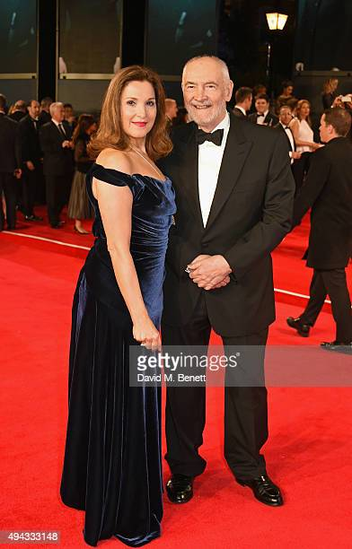 Producers Barbara Broccoli and Michael G Wilson attend the Royal World Premiere of 'Spectre' at Royal Albert Hall on October 26 2015 in London England